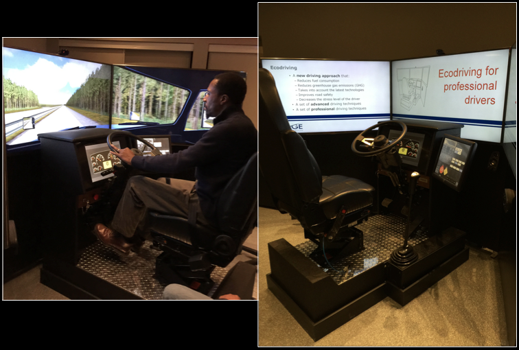 CHET's Virage Simulation VS600M truck driving simulator system