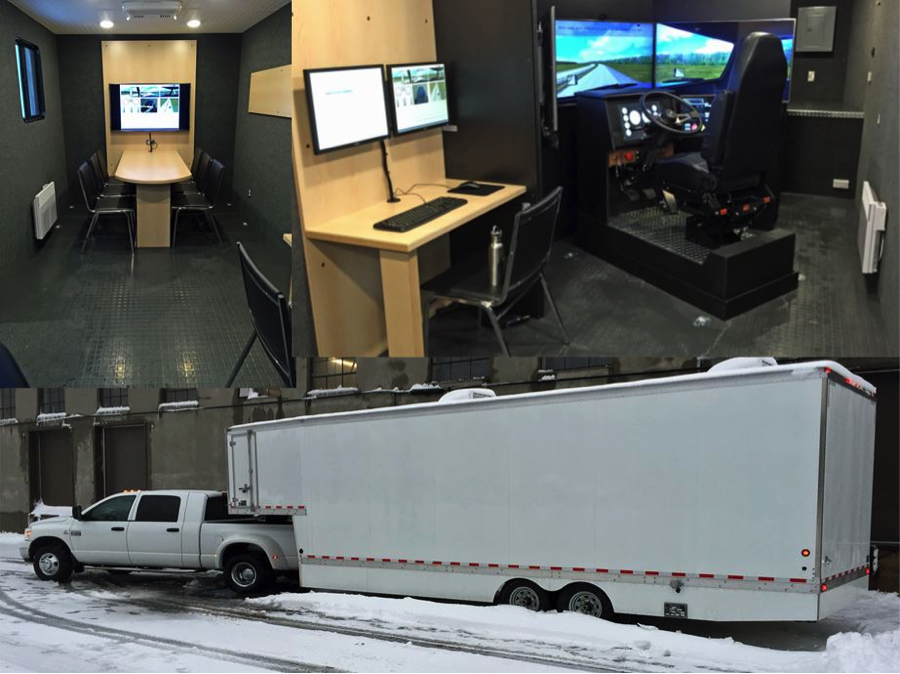 Virage Simulation VS600M Truck Driving Simulator Mobile Training Laboratory