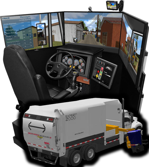 VS600M-Refuse-Waste truck simulator