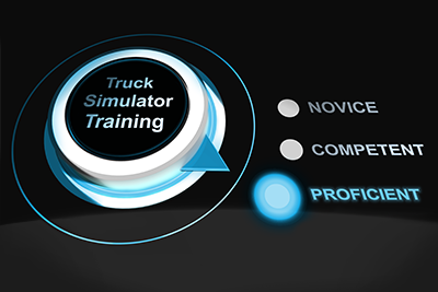 Proficiency-based truck simulator training