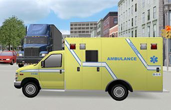 Ambulance Driving Simulator VS500M for specialized programs and Paramedics