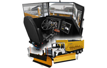Snow Plow Truck Driving Simulator for snow plow operator Municipalities, Government