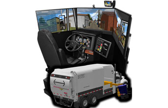 Waste & Recycling Truck Simulator VS600M-W for Waste and Recycling truck operators Municipalities