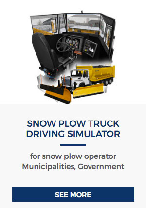 Snow Plow Truck Driving Simulator
