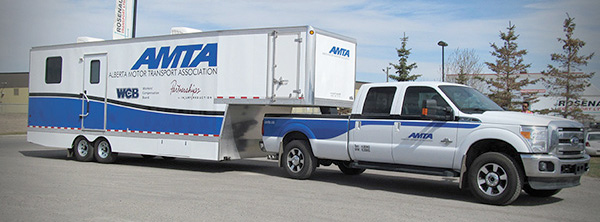 Provides training services to the Alberta trucking industry